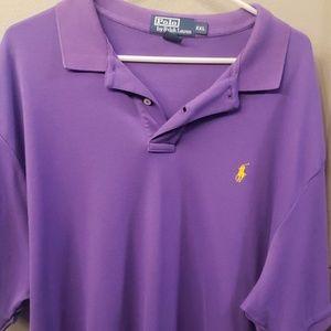 Men's purple polo shirt XXL